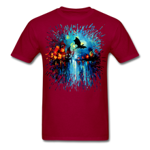 Load image into Gallery viewer, Flight of the Dragon Splash Unisex Classic T-Shirt - dark red