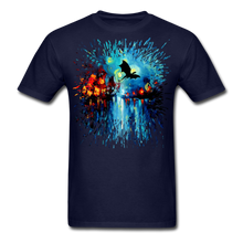 Load image into Gallery viewer, Flight of the Dragon Splash Unisex Classic T-Shirt - navy