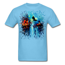 Load image into Gallery viewer, Flight of the Dragon Splash Unisex Classic T-Shirt - aquatic blue