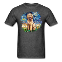 Load image into Gallery viewer, Goldendoodle Night Splash Unisex Classic T-Shirt - heather black