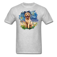Load image into Gallery viewer, Goldendoodle Night Splash Unisex Classic T-Shirt - heather gray