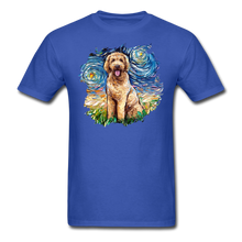 Load image into Gallery viewer, Goldendoodle Night Splash Unisex Classic T-Shirt - royal blue