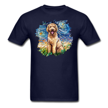 Load image into Gallery viewer, Goldendoodle Night Splash Unisex Classic T-Shirt - navy