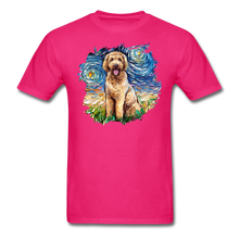 Load image into Gallery viewer, Goldendoodle Night Splash Unisex Classic T-Shirt - fuchsia