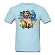 Load image into Gallery viewer, Goldendoodle Night Splash Unisex Classic T-Shirt - powder blue