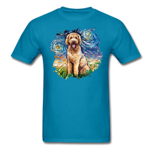 Load image into Gallery viewer, Goldendoodle Night Splash Unisex Classic T-Shirt - turquoise