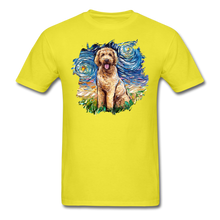 Load image into Gallery viewer, Goldendoodle Night Splash Unisex Classic T-Shirt - yellow