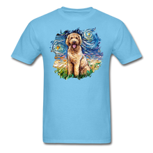 Load image into Gallery viewer, Goldendoodle Night Splash Unisex Classic T-Shirt - aquatic blue