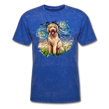 Load image into Gallery viewer, Goldendoodle Night Splash Unisex Classic T-Shirt - mineral royal