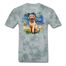 Load image into Gallery viewer, Goldendoodle Night Splash Unisex Classic T-Shirt - grey tie dye
