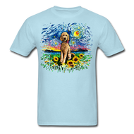 Goldendoodle Night 2 Splash Unisex Classic T-Shirt - powder blue