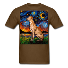 Load image into Gallery viewer, Fawn Great Dane Night Unisex Classic T-Shirt - brown