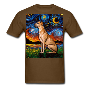 Fawn Great Dane Night Unisex Classic T-Shirt - brown