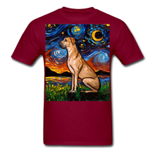 Load image into Gallery viewer, Fawn Great Dane Night Unisex Classic T-Shirt - burgundy