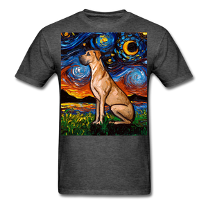 Fawn Great Dane Night Unisex Classic T-Shirt - heather black