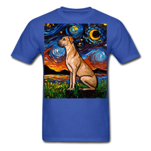 Load image into Gallery viewer, Fawn Great Dane Night Unisex Classic T-Shirt - royal blue