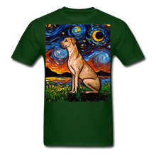 Load image into Gallery viewer, Fawn Great Dane Night Unisex Classic T-Shirt - forest green
