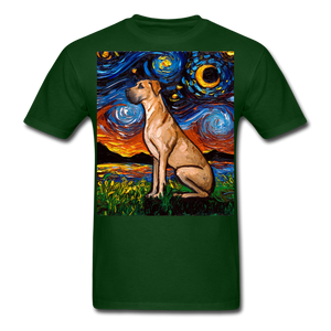 Fawn Great Dane Night Unisex Classic T-Shirt - forest green