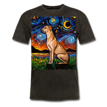 Load image into Gallery viewer, Fawn Great Dane Night Unisex Classic T-Shirt - mineral black