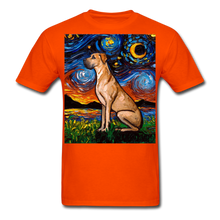 Load image into Gallery viewer, Fawn Great Dane Night Unisex Classic T-Shirt - orange