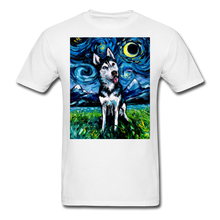 Load image into Gallery viewer, Happy Husky Night Unisex Classic T-Shirt - white