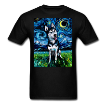 Load image into Gallery viewer, Happy Husky Night Unisex Classic T-Shirt - black