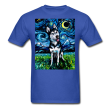 Load image into Gallery viewer, Happy Husky Night Unisex Classic T-Shirt - royal blue