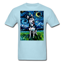 Load image into Gallery viewer, Happy Husky Night Unisex Classic T-Shirt - powder blue