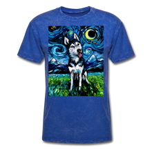 Load image into Gallery viewer, Happy Husky Night Unisex Classic T-Shirt - mineral royal
