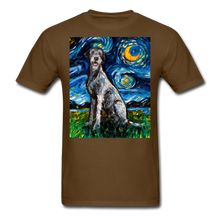 Load image into Gallery viewer, Irish Wolfhound Night Unisex Classic T-Shirt - brown