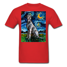 Load image into Gallery viewer, Irish Wolfhound Night Unisex Classic T-Shirt - red