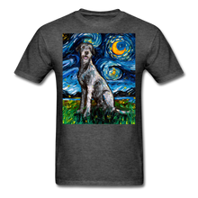 Load image into Gallery viewer, Irish Wolfhound Night Unisex Classic T-Shirt - heather black