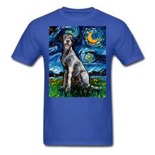 Load image into Gallery viewer, Irish Wolfhound Night Unisex Classic T-Shirt - royal blue