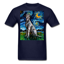 Load image into Gallery viewer, Irish Wolfhound Night Unisex Classic T-Shirt - navy