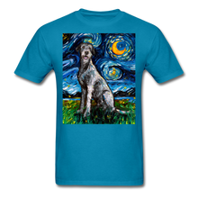 Load image into Gallery viewer, Irish Wolfhound Night Unisex Classic T-Shirt - turquoise