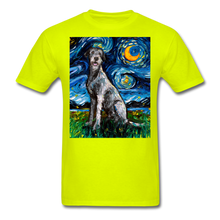 Load image into Gallery viewer, Irish Wolfhound Night Unisex Classic T-Shirt - safety green