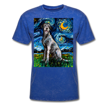 Load image into Gallery viewer, Irish Wolfhound Night Unisex Classic T-Shirt - mineral royal