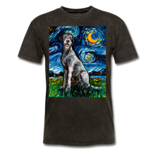 Load image into Gallery viewer, Irish Wolfhound Night Unisex Classic T-Shirt - mineral black