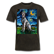 Irish Wolfhound Night Unisex Classic T-Shirt - mineral black