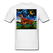 Load image into Gallery viewer, Irish Setter Night Unisex Classic T-Shirt - white
