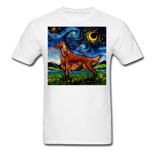 Irish Setter Night Unisex Classic T-Shirt - white