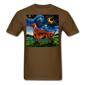 Irish Setter Night Unisex Classic T-Shirt - brown
