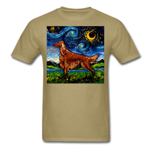 Load image into Gallery viewer, Irish Setter Night Unisex Classic T-Shirt - khaki