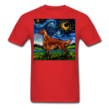 Load image into Gallery viewer, Irish Setter Night Unisex Classic T-Shirt - red