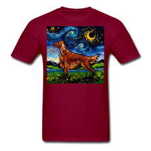 Load image into Gallery viewer, Irish Setter Night Unisex Classic T-Shirt - burgundy