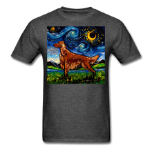 Load image into Gallery viewer, Irish Setter Night Unisex Classic T-Shirt - heather black