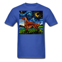 Load image into Gallery viewer, Irish Setter Night Unisex Classic T-Shirt - royal blue