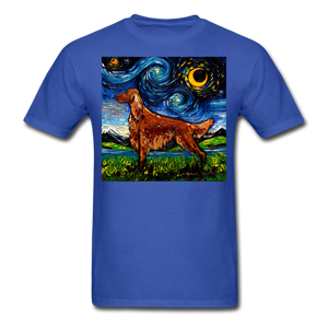 Irish Setter Night Unisex Classic T-Shirt - royal blue