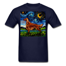 Load image into Gallery viewer, Irish Setter Night Unisex Classic T-Shirt - navy