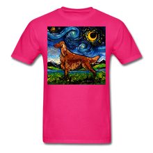 Load image into Gallery viewer, Irish Setter Night Unisex Classic T-Shirt - fuchsia
